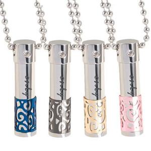 316L titanio oli essenziali bottiglia di profumo cristallo collana di diamanti amanti bottiglia di olio diffusore pendente pendente può essere aperto ciondoli vuoti