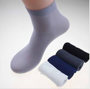 Toptan-çorap yeni sıcak Erkek Çorap Ultra ince Erkek Nefes Çorap için yaz 20 çift / lot tek lot aynı renk, Erkek bambu elyaf çorap