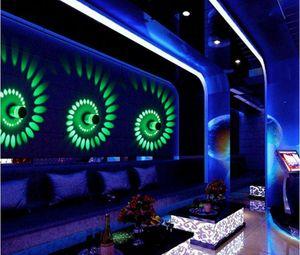크리 에이 티브 주도 벽 램프 RGB 현대 전등 빛나는 조명 3W AC85-265V 실내 벽 장식 조명