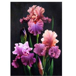 Rodada de cristal Cross Stitch imagem Diamante Bordado flor e planta decoração de casa Diamante pintura moasic imagem floral pastas