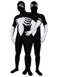 Black Vemon Symbiote Spider-Man Costume Halloween costume Halloween Party Cosplay Zentai Suit 15689