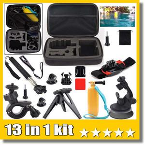 13 em 1 kit Acessórios M Tamanho Carry Bag Flutuante Lidar Com Aperto de Pólo de 360 Graus de Pulso de Rotação Para A Câmera de Ação Esporte Câmera H9