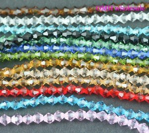 OMH vende al por mayor 400 piezas mixtas de 3 mm accesorios de moda spacer beads bicone crystal crystal beads sj01