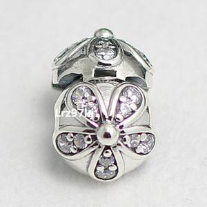 Temizle CZ ile 925 Gümüş Pırıltılı Papatya Klip Charm Boncuk Avrupa Pandora Takı Bilezikler Kolye Kolye Uyar