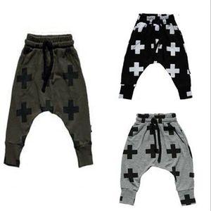 Yeni Kızlar Çocuk Toddler Çocuk Moda Erkek Pantolon Pantolon Tayt Çapraz Yıldız Hip Hop Çocuk Pantolon Için Harem Pantolon Bebek Giysileri 56