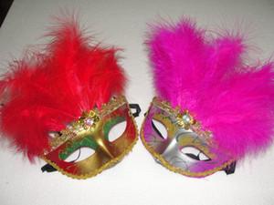 Kadınlar Seksi Venedik Güzellik maskesi 11 kök villi Kostüm partisi maskesi düğün elbise up maske 60 adet / grup