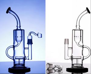 26 cm de grand verre bongs tuyaux d'eau 18.8mm recycleur de recyclage articulaire plate-forme de verre bongs percolateurs narguilé avec accessoires fumeurs clairs