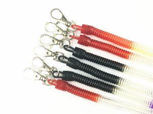 Cuerda de resorte cordón móvil robo de cuerda retráctil cordón llavero llavero color / negro