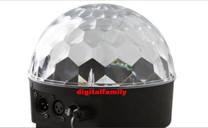 LED Channel DMX512 Control Digital LED RGB Crystal Magic Ball Effect Light DMX Disco DJ Stage party Lighting Free Shipping