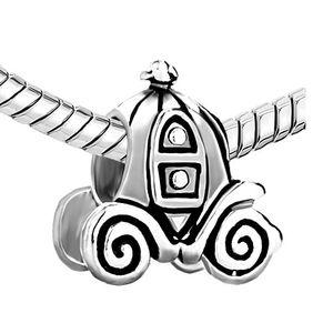 Jackolantern Cadılar Bayramı Külkedisi Kabak Arabası Avrupa Boncuk Alaşım Malzeme içinde Rodyum Kaplama Ile Pandora DIY takı