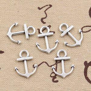 200 stücke Charme anker 19 * 15mm Antike, zink-legierung anhänger fit, Vintage Tibetischen Silber, DIY für armband halskette