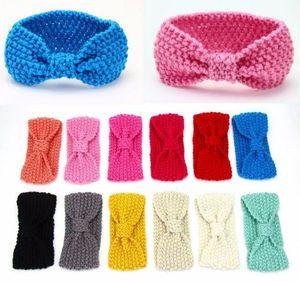 Mode Enfants Bohemia Tricoté Headwrap Enfants Turban Tricot De Laine Crochet Bandeau Cache-oreilles pour Bébés Filles