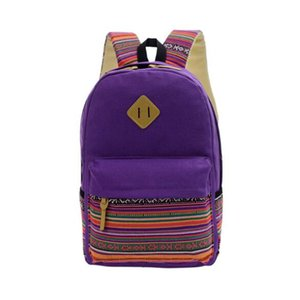 Оптовая женщины рюкзак для школы подростков девочек старинные стильные дамы рюкзак женский фиолетовый пунктирная печать высокое качество