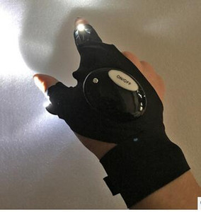Outdoor Fishing Gloves Magic Strap With LED Lights Sports Golves Emergency Flashlight Torch Cover Survival Camping Hiking Lights