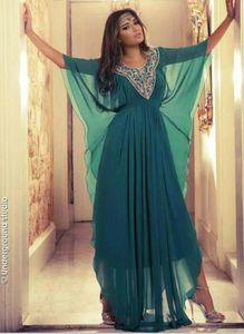 Juwel Hals lange Kristall Perlen islamische Kleidung für Frauen Abaya in Dubai Abaya Kaftan muslimischen arabischen Abendkleider Party Prom Kleider