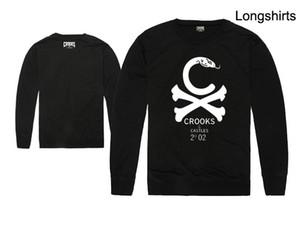 Trapaceiros e Castelos Homens T-shirt da Forma Dos Homens de moda de manga longa Em Torno Do Pescoço Marca Homens Casual sports camisolas frete grátis