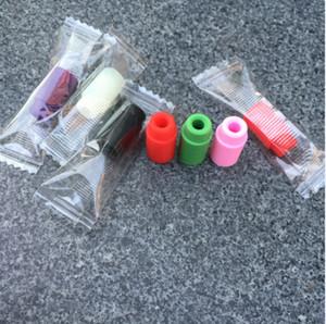 Boquilla de silicona cubierta de goteo Punta de silicona desechable Prueba de colores consejos Tester tapa paquete individual para kanger subtank tanque de nebox