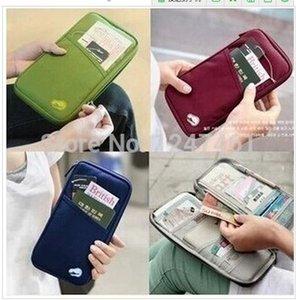 Бесплатная доставка путешествия паспорт сумка кредит ID карты наличными держатель организатор паспорт бумажник чехол сумка,многоцветный пакет документов