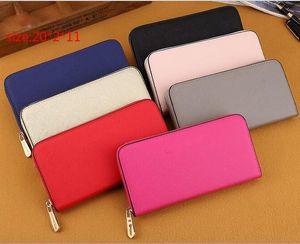 Hot! wholesalefashion single zipper cheap luxury women pu leather wallet lady ladies woman long purse free shipping