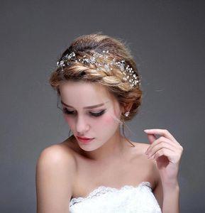 Brilhando Frisado Cristais Coroas De Casamento 2016 Nupcial De Cristal Véu Tiara Coroa Headband Do Cabelo Acessórios de Festa de Casamento Tiara CPA477