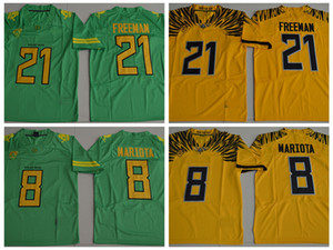2017 New Oregon Ducks College Football Jerseys 21 Royce Freeman 8 Marcus Mariota Stitched Jerseys Football Shirts