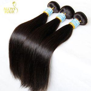 Peruanische Gerade Reines Haar 4 Stücke 8A Unverarbeitete Peruanische Menschenhaar-webart Bundles Günstige Peruanische Remy Haarverlängerungen Natürliche Schwarze Farbe