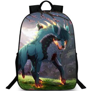 Волк рюкзак прохладный художественный рюкзак диких животных школьный досуг рюкзак Спорт школьный мешок Открытый день пакет