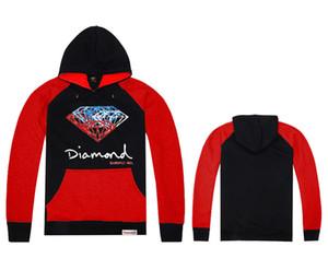 2017 nuovo stile inverno e marchio di marea skateboard hip hop Diamond timbro con cappuccio felpe e le coppie allentate vestito