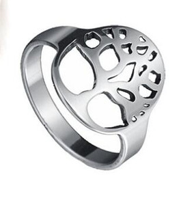 Европейский и американский рок-арт стиль полые кольцо кольцо Кольцо желая дерево жизни