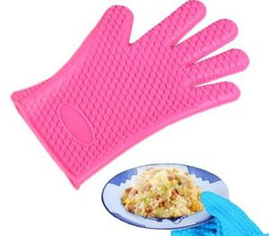 Термостойкие кухонные перчатки толстые Барбекю гриль перчатки кремния Барбекю гриль печь перчатка горшок держатель приготовления перчатки