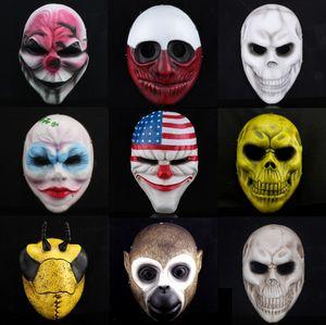 HarvestDay2 Moda Halloween Máscara Resina Fina Jabbawockeez Máscara Máscara Do Partido Hip-Hop Shuffle Máscara de Dança Traje Máscara Do Partido 9 projeto