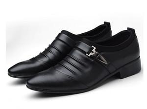 Oxfords formelle chaussures de mariage en cuir noir heren schoenen oxford chaussures pour hommes habillées chaussures 2019 mocassins D2N19