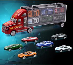 큰 크기 합금 트럭 모델 장난감, 12 합금 자동차 포함, 장난감 상자, 선물, 수집, 무료 배송에 대 한 정밀 슈퍼 시뮬레이션 차량 모델