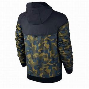 Más el tamaño de los hombres chaquetas abrigo otoño sudadera con capucha camuflaje a prueba de viento de manga larga marca diseñador sudaderas con capucha cremallera ropa para hombre con capucha