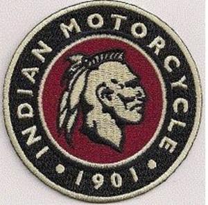 Indian 1901 MC Chaqueta Delantera Chaleco Parche Bordado Motocicleta Verde Biker Chaleco Parche Rock Punk Parche 10 Unids / lote Envío Gratis