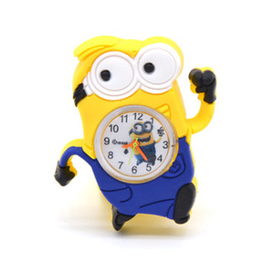 Montres enfants 3D Eye Despicable Me Silicone slap enfants regardent minion Precious Milk Daddy montres Slap Snap Cartoon montre Bracelet horloge