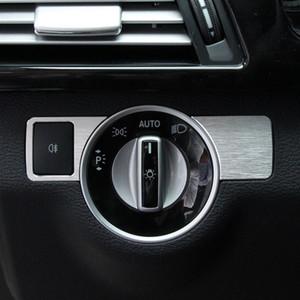 2pcs reglaje de los faros cubierta del botón ajuste de la decoración para la etiqueta engomada de Mercedes Benz W176 W246 B C E W204 W212 GLA GLK X204 GL ML