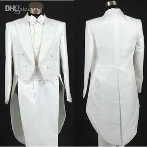 PERSONALIZADO A MEDIDA Sastre blanco BESPOKE para hombre a medida con 6 botones, BESPOKE Tuxedos de boda de cola larga para hombres, traje de hombre a medida