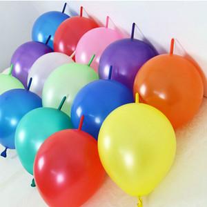 All'ingrosso-economico! Pin code palloncini12inch (50pcs / lot) palloncini di spessore festa di compleanno decorazione di Natale forma rotonda palloncino a forma di croce