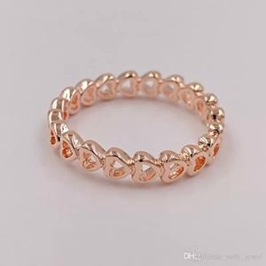 Rose Heart Rings Оригинальное Серебро Подходит для Стиль Ювелирные Изделия Связанные Любовь 180177 H8ALE H8
