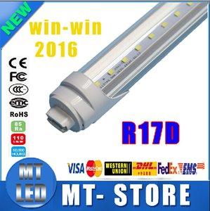 R17D의 T8 LED 튜브 라이트 8피트 45W 2.4 형광 램프 회전 smd2835 192leds는 85-265V 프로스트 / 클리어 커버 튜브 4800lm