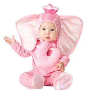 아기를위한 새로운 사랑스러운 동물 할로윈 의상은 유아 소년 소녀 아기 화려한 드레스 코스프레 의상 원숭이 / 핑크 코끼리 / 사자의 성장