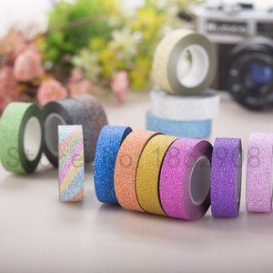 Nastro adesivo glitter 8 colori 8 colori forte adesivo per mascheratura nastro adesivo deco