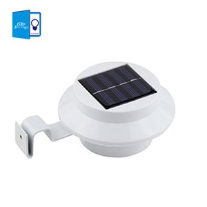 Wholesale-[DBF] LED Solar Lamp Sensor Waterproof Solar Light 3 LEDs Street Light Outdoor Path Wall Lamp Security Spot Lighting