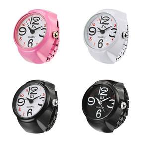 Art- und Weiseausdehnungsuhr Metallfinger-Ring-Uhr 925 silber überzogene Uhren Weibliche digitale Quarzringuhr