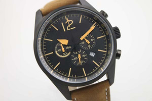 New Hot Sale Frete Grátis Black Dezel Cinto Bege Mens Relógio De Pulso Dos Homens Pionter Calender Moda Masculina Relógios Relógios