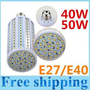 Светодиодные кукурузные светильники высокой мощности AC110V / 220В 40Вт 50Вт E27 E40 Светодиодные лампочки Теплый белый / белый 132 / 165шт SMD 5630 High Bright