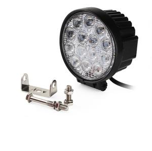 4PCS 4.5 بوصة 42W LED WORK ضوء الفيضانات الطرق الوعرة الخفيفة لشاحنة مقطورة زورق دراجة نارية 12V 24V ضوء الضباب