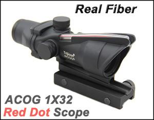 Tactical ACOG 1x32 Faser Quelle Red Dot Scope mit Real Red Fibre Zielfernrohre Schwarz