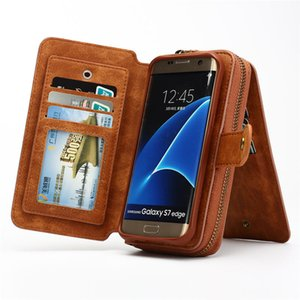 Multifunction Wallet Phone Case For Samsung S4  5  6  7  S7  S8 Edge  Note 4  5  8 For Iphone 5 Se 6s Plus 7 8 Plus X Zipper Purse Pouch